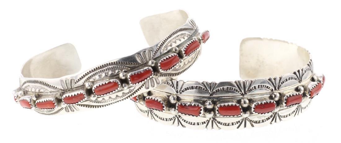 Coral Row Bracelet Set of 2