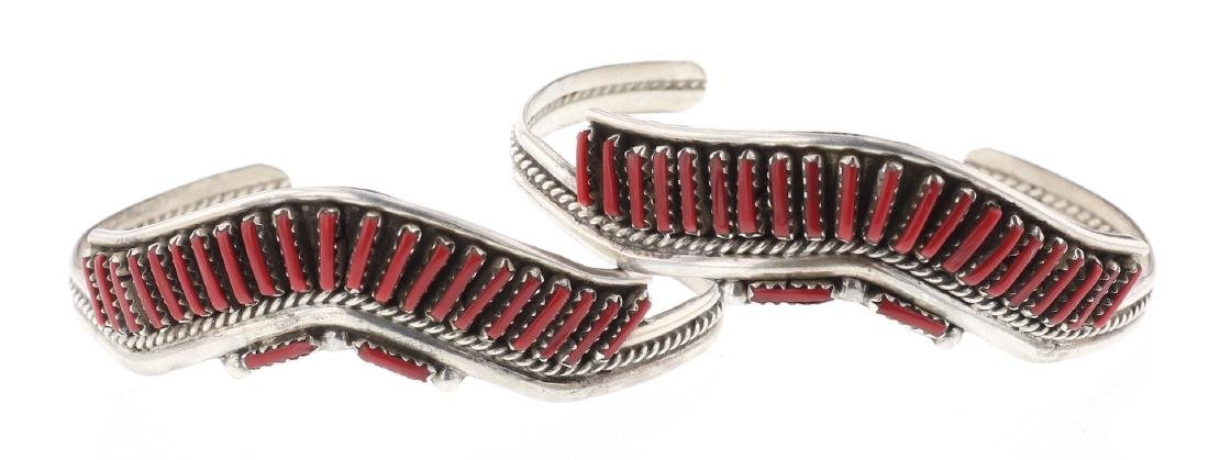 Needlepoint Coral Vintage Bracelet
