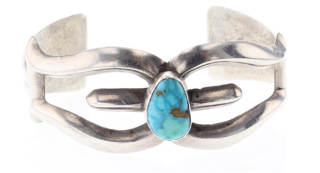 Sand Cast Turquoise Bracelet