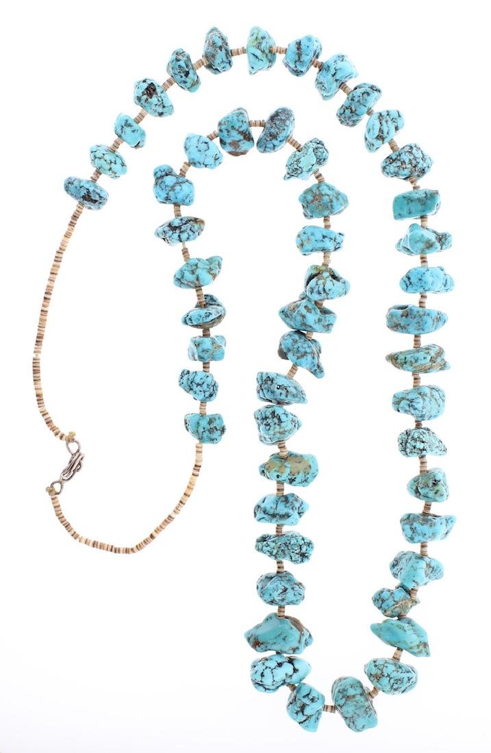 Vintage Turquoise Nugget & Heishi Necklace