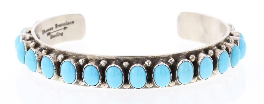 Thomas Francisco Sleeping Beauty Turquoise Row Bracelet