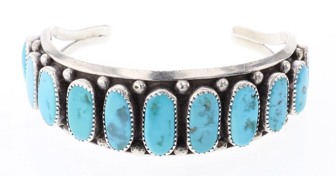 Vintage Turquoise Bracelet Row Bracelet