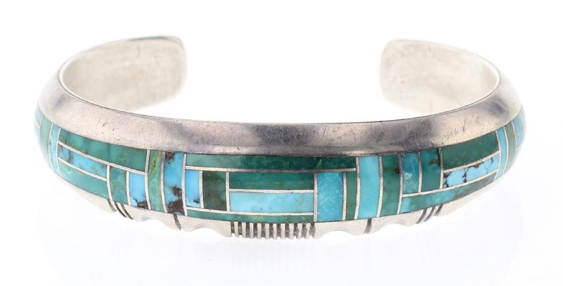 Gilbert Nelson Turquoise Inlay Bracelet