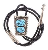 Vintage Old Pawn Turquoise Bolo Tie