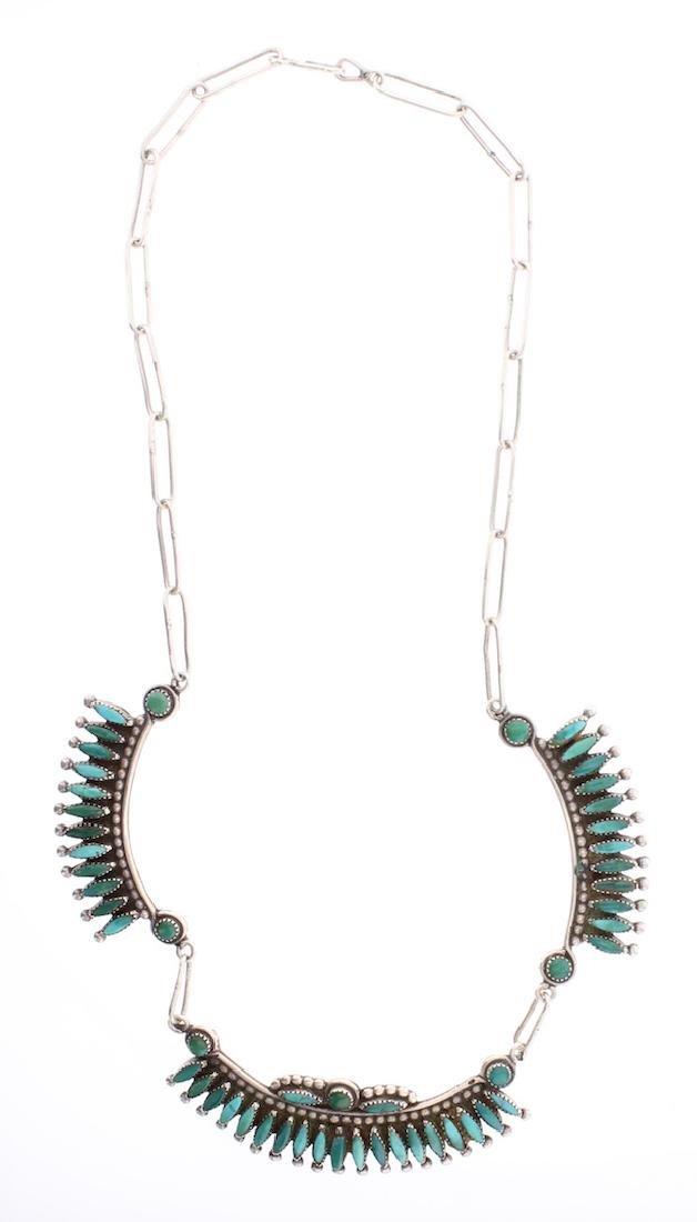 Vintage Petite Point Zuni Necklace