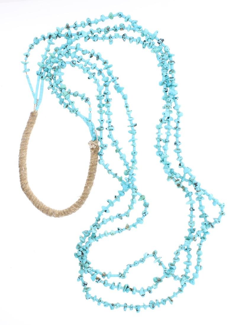 Vintage Turquoise Multi Strand Necklace