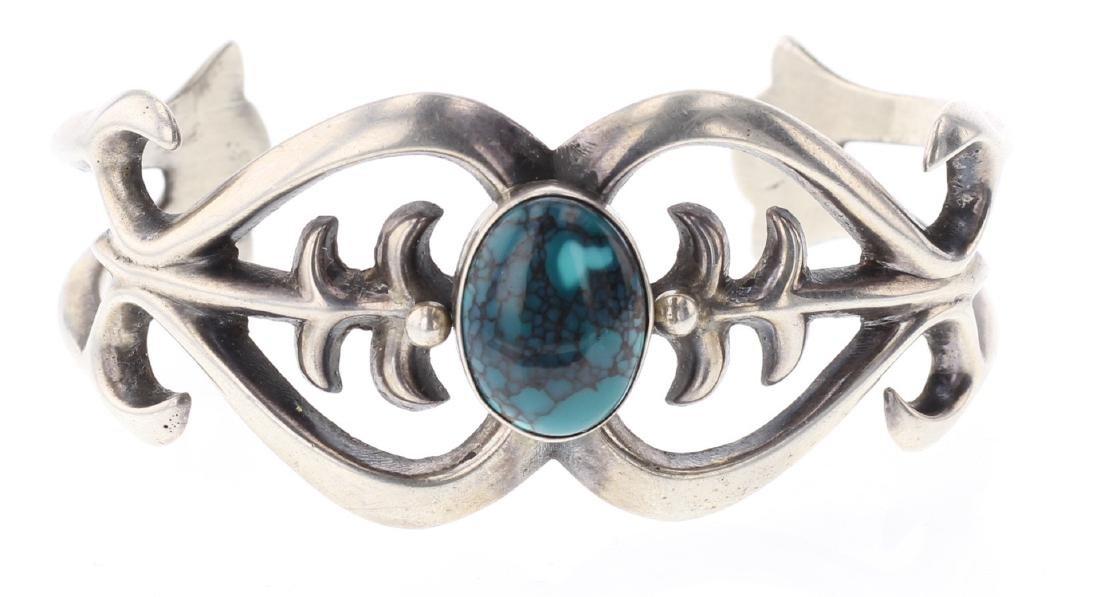 Turquoise Sand Cast Bracelet