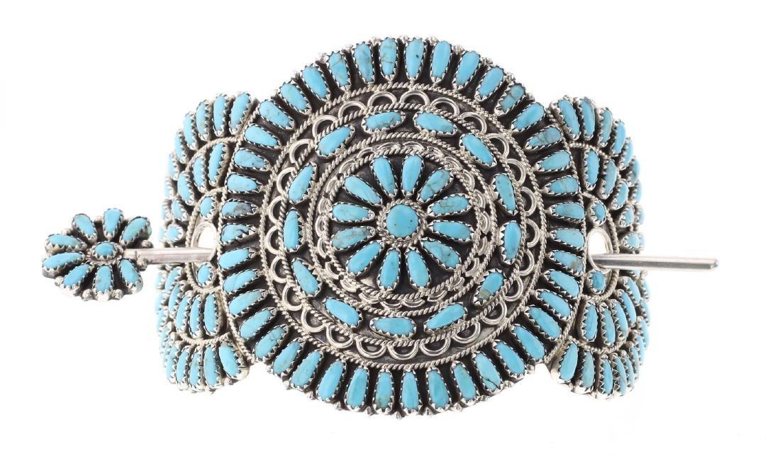 Turquoise Cluster Hair Barrett