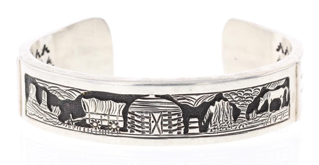 Vintage Story Teller Design Bracelet
