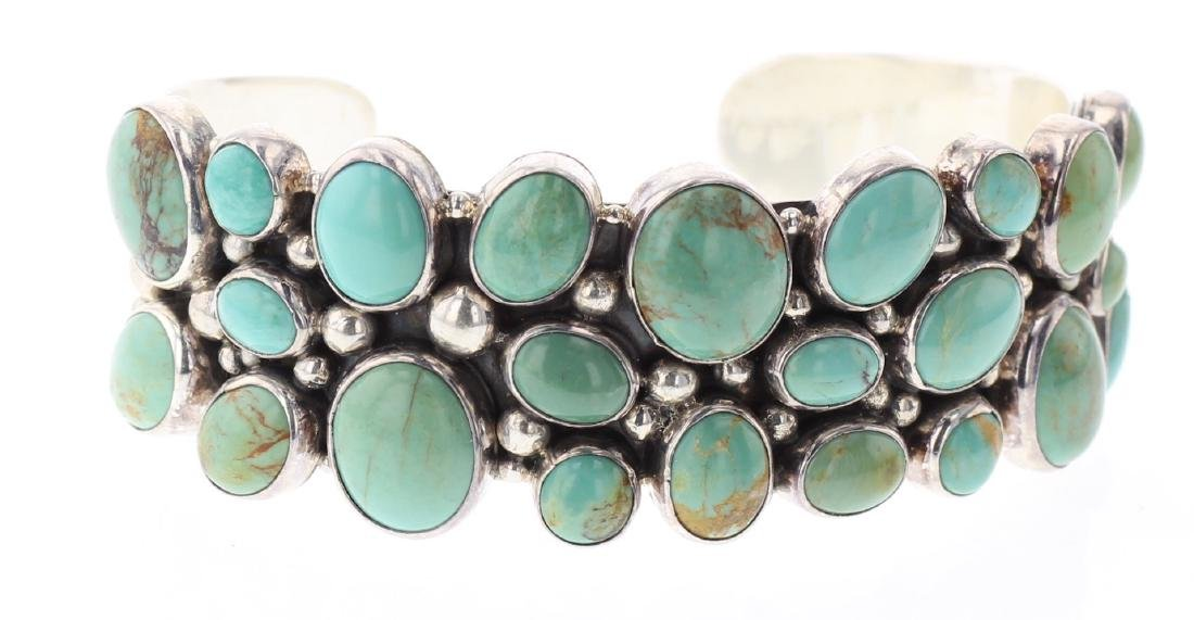 Philbert Secatero Contemporary Turquoise Bracelet