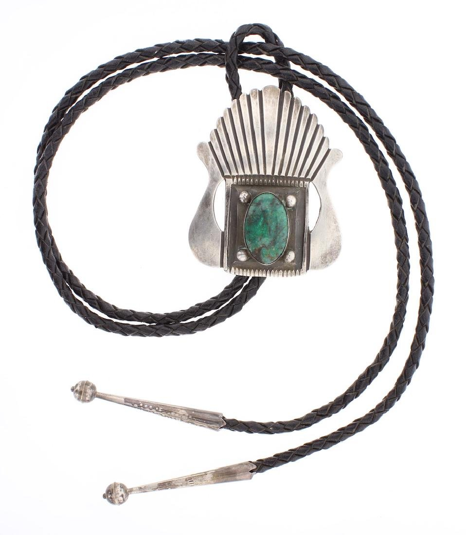 Ernest Begay Vintage Turquoise Bolo Tie