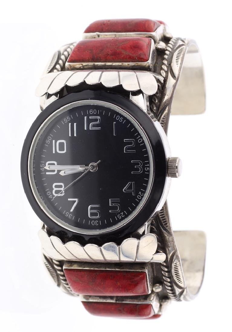 Sponge Coral Vintage Watch Bracelet