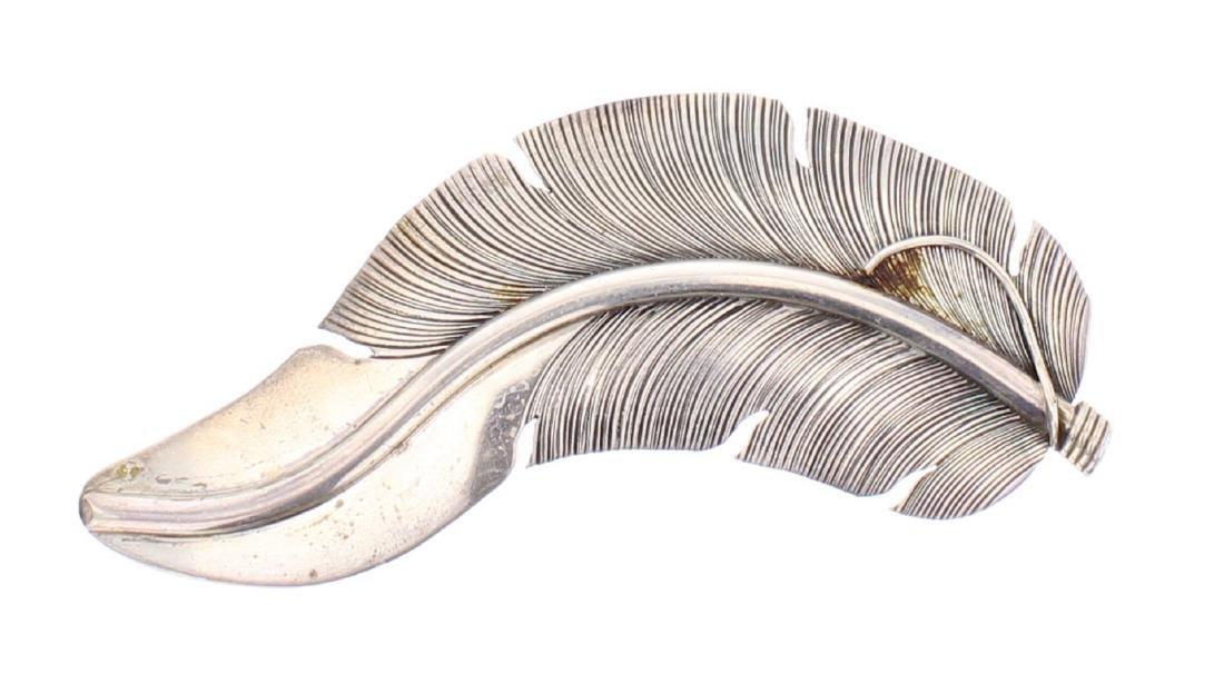 Lena Platero Vintage Old Pawn Leaf Pin
