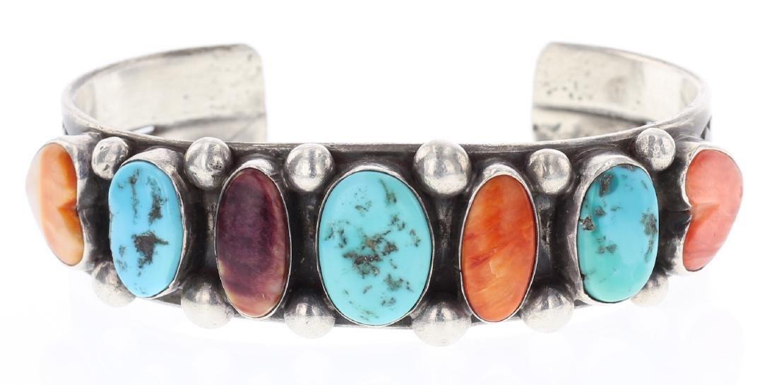Vintage Turquoise & Spiny Oyster Bracelet