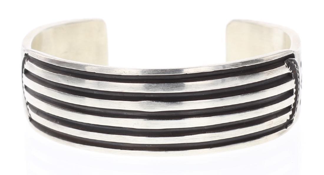 Elvira Bill Heavy Stamp Overlay Bracelet