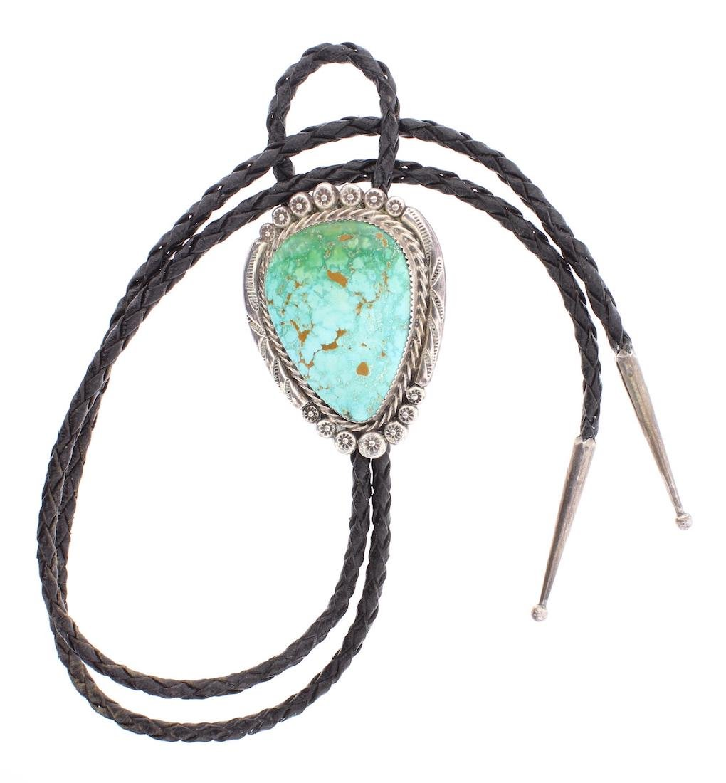 Vintage Carico Lake Turquoise Bolo Tie