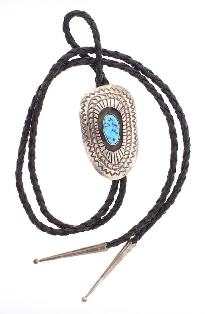 Vintage Turquoise Shadow Box Bolo Tie