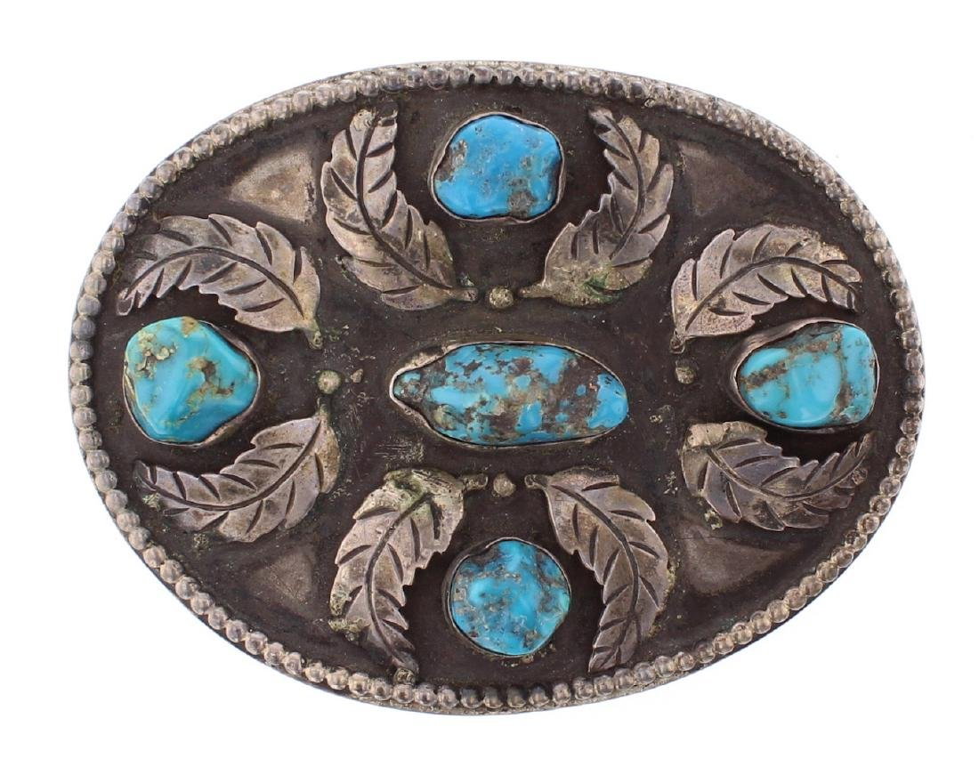 Antique Old Pawn Masterpiece Leaf Belt Buckle