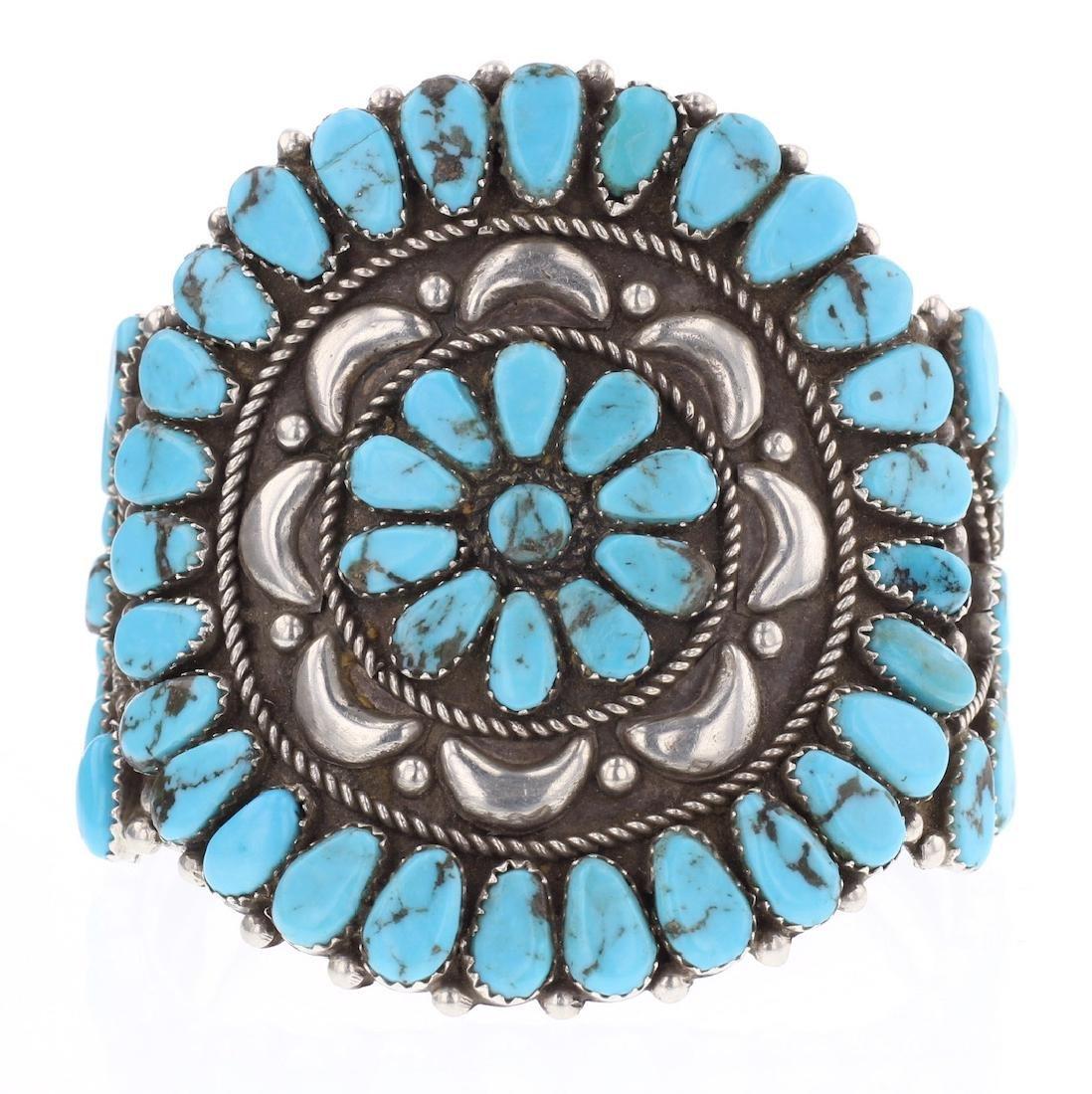 Vintage Masterpiece Old Pawn Turquoise Cluster Bracelet