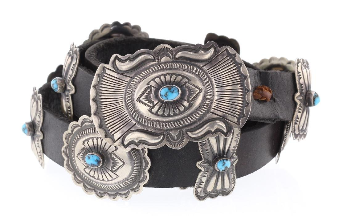 Charlie Vintage Old Pawn Turquoise Masterpiece Concho