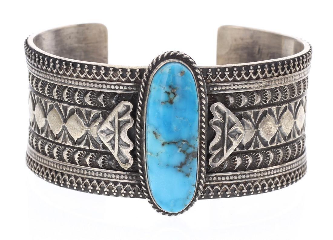 Vintage Masterpiece Heavy Stamp Bracelet