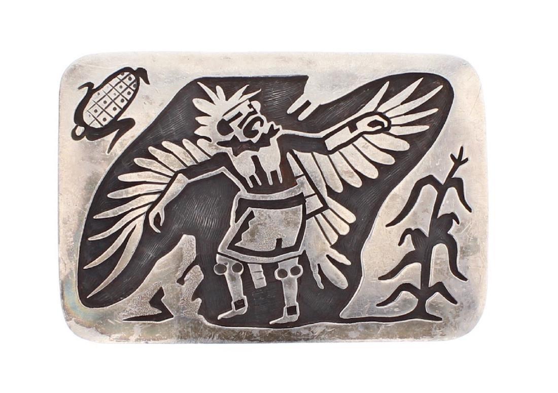 Hopi Story Teller Masterpiece Overlay Belt Buckle