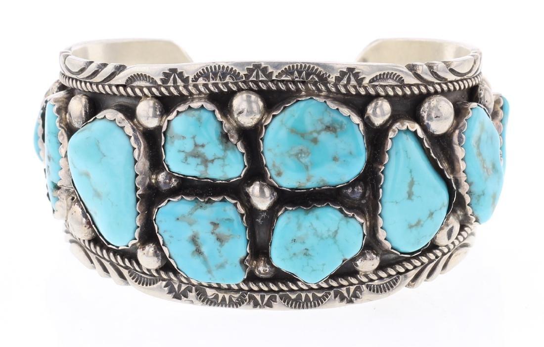 Vintage Sleeping Beauty Nugget Turquoise Bracelet