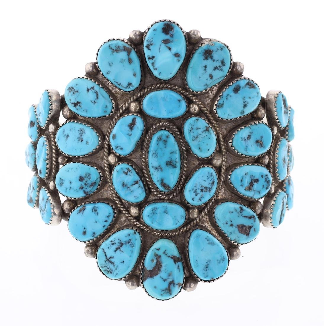 Sleeping Beauty Nugget Turquoise Cluster Bracelet