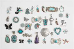 Vintage Pin & Pendant Lot of 36