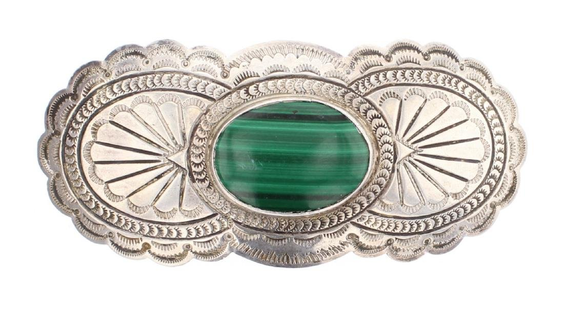 Suzie James Malachite Vintage Hair Clip
