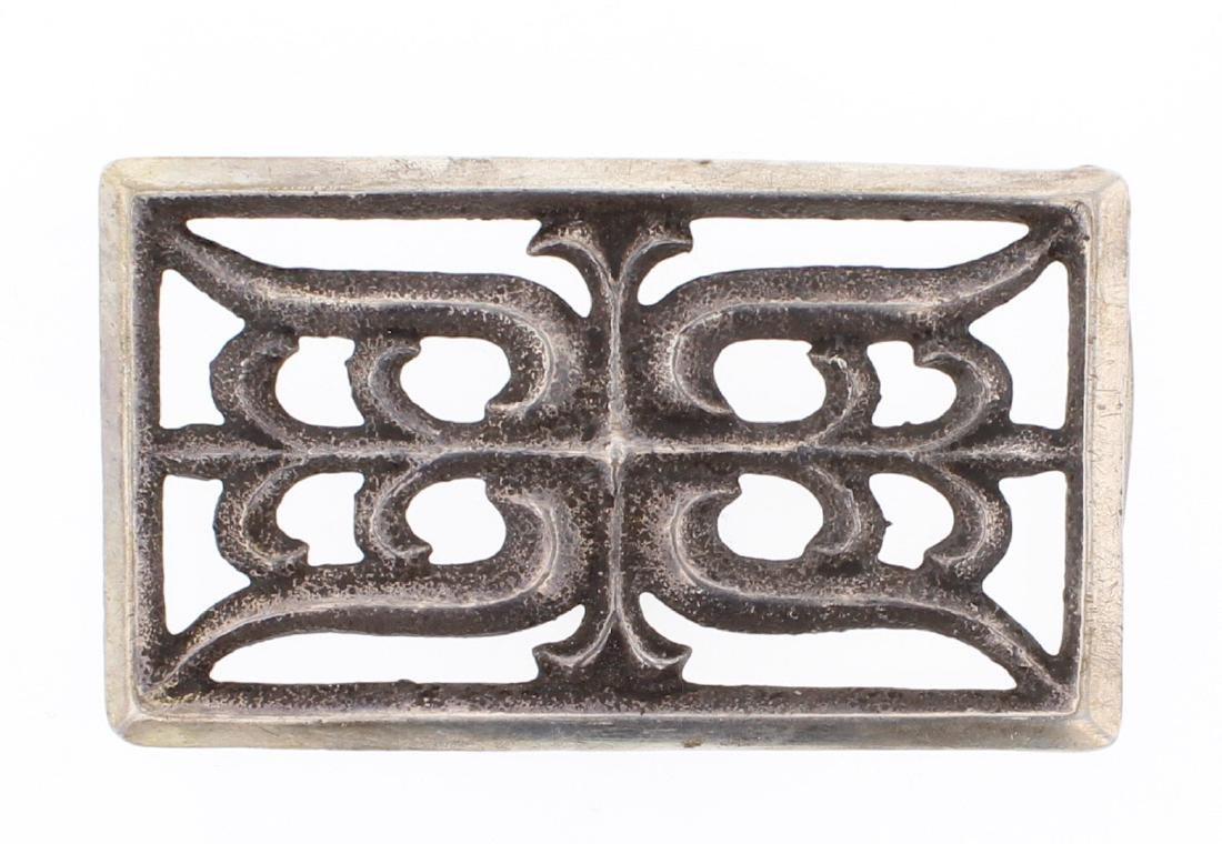 Vintage Old Pawn Sand Cast Belt Buckle