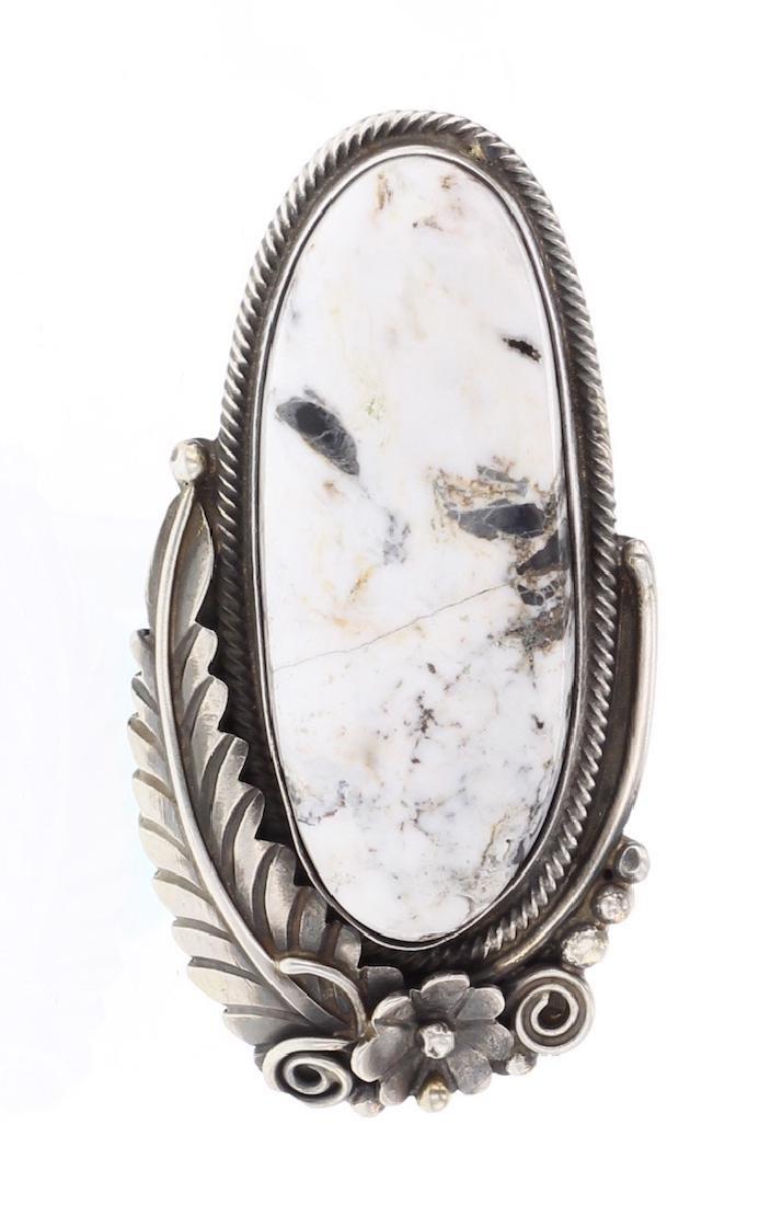 White Buffalo Contemporary Ring