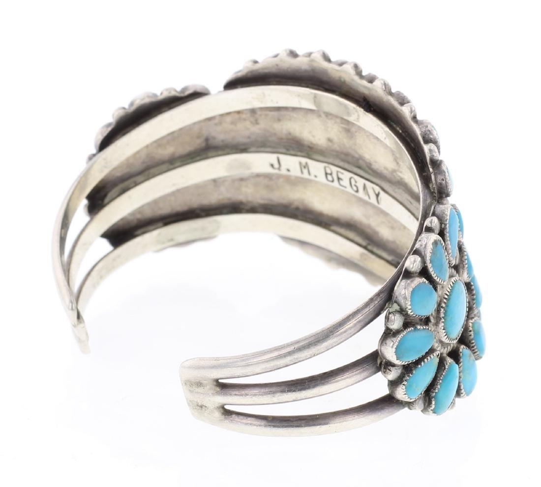 J.M Begay Old Pawn Cluster Cuff Bracelet - 2