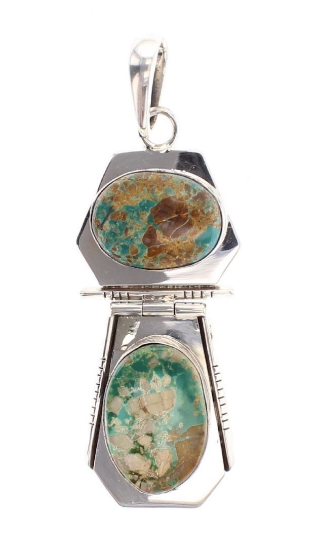 Ray Bennett Jr. Contemporary Royston Turquoise Pendant