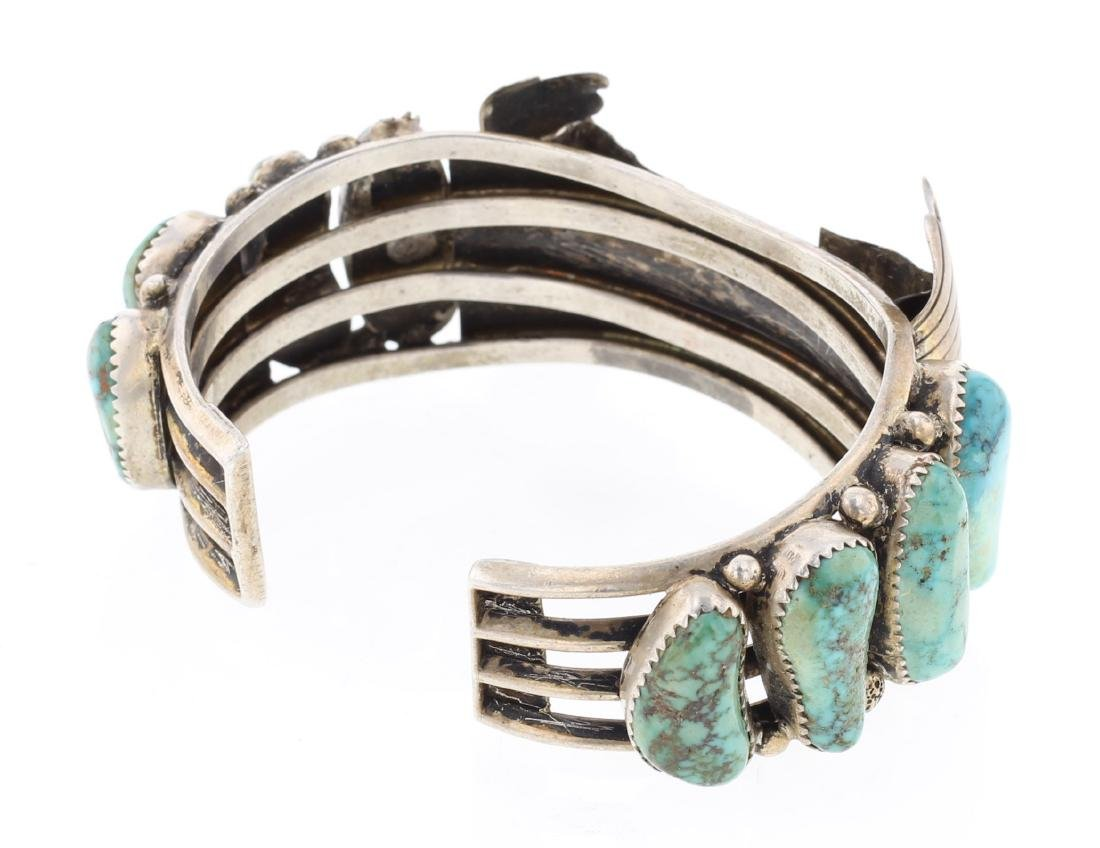 Vintage Turquoise Watch Bracelet - 2