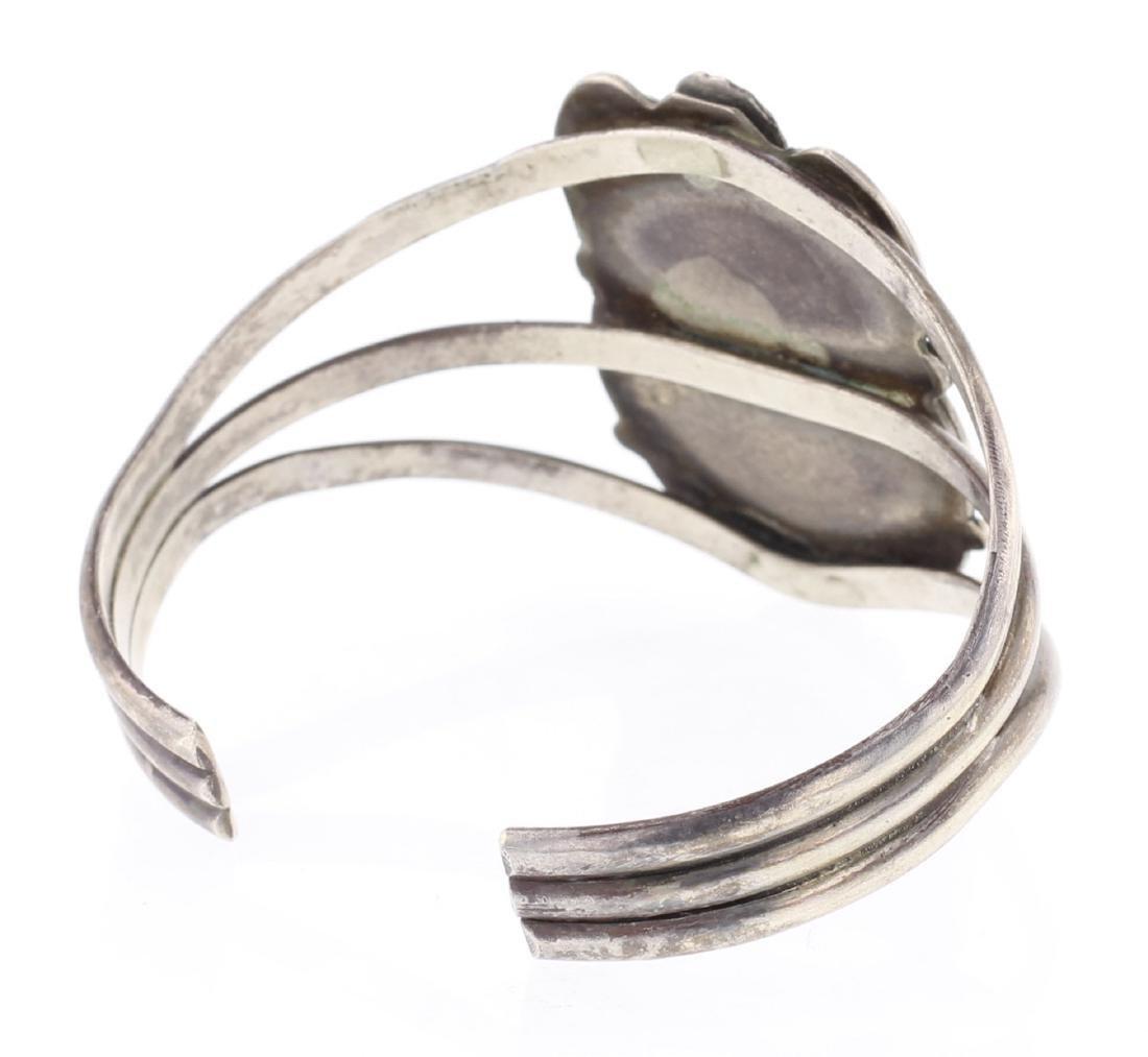 Vintage Black Onyx Cuff Bracelet - 2