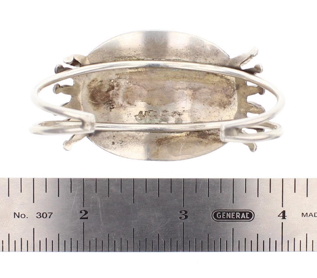 Vintage Coral Needlepoint Cluster Bracelet - 3
