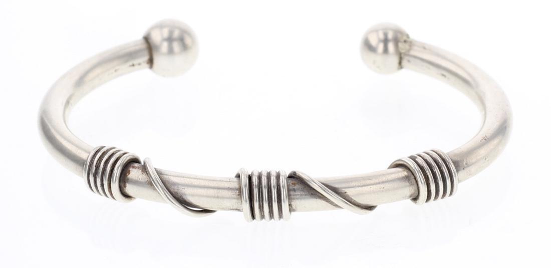 Vintage Twist Wire Cuff Bracelet
