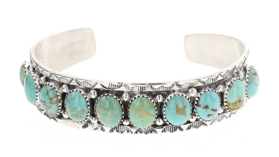 Secatero Turquoise Row Cuff Bracelet