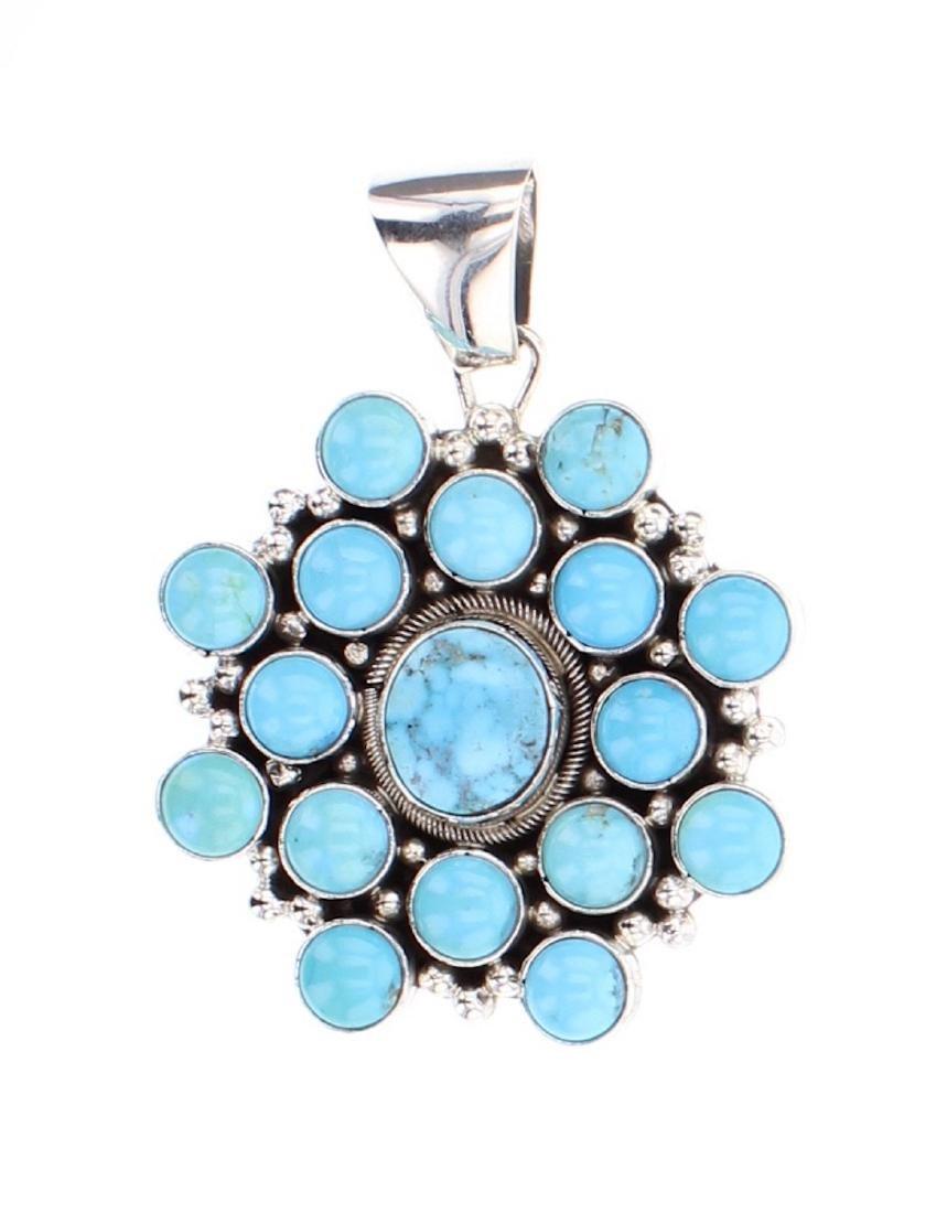 Eleanor Largo Contemporary Kingman Turquoise Pendant