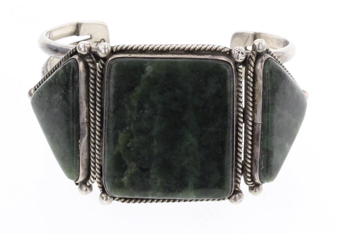 Old Pawn Obsidian Large Stone Cuff Bracelet