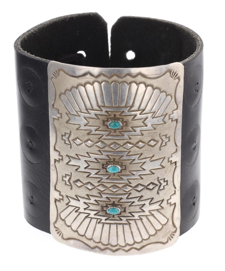 Vintage Turquoise Arm Guard Bracelet