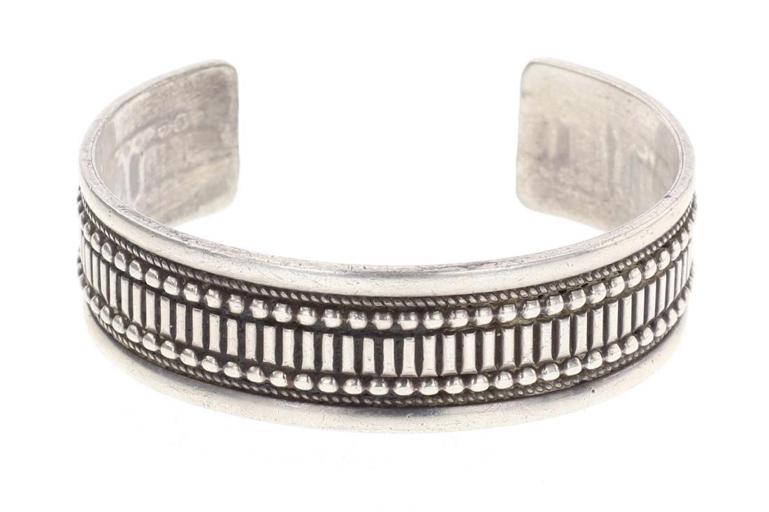 Heavy Overlay Row Cuff Bracelet