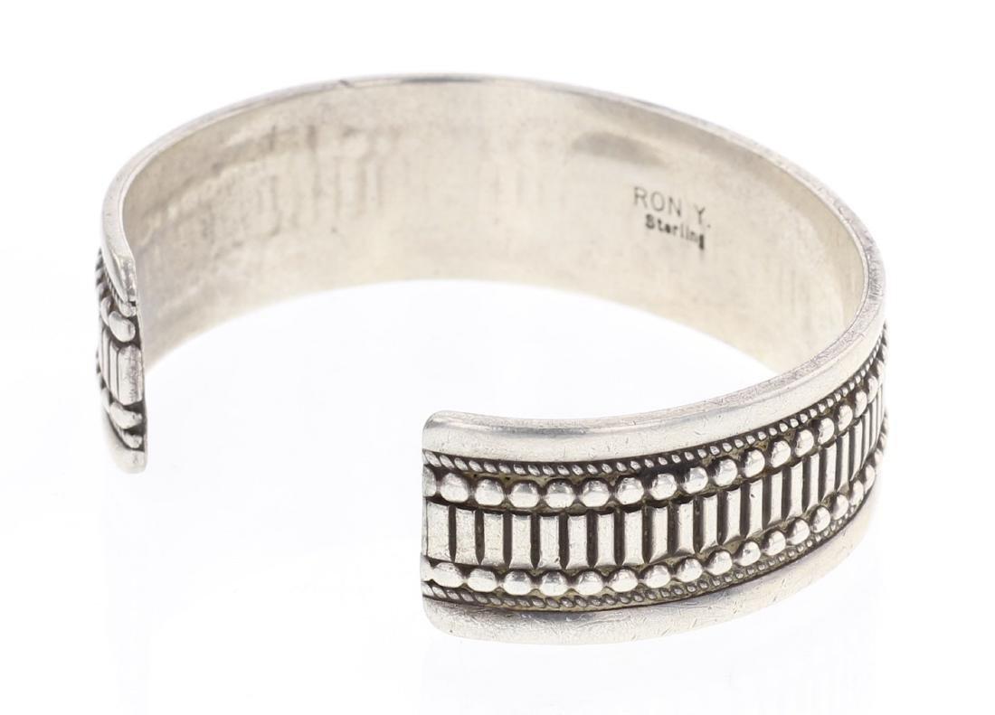 Heavy Overlay Row Cuff Bracelet - 2