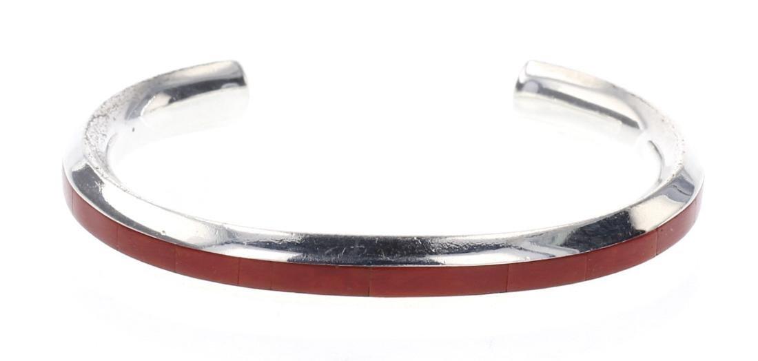 Natachu Zuni Coral Inlay Bracelet