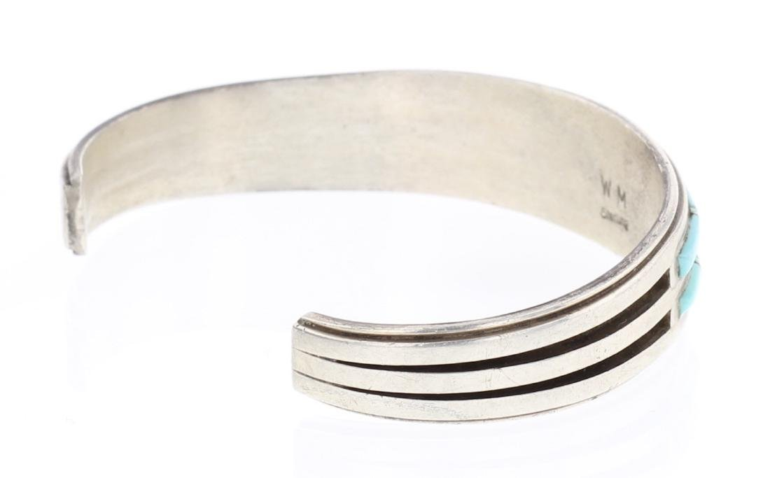 Willie Mariano Turquoise Inlay Row Bracelet - 2