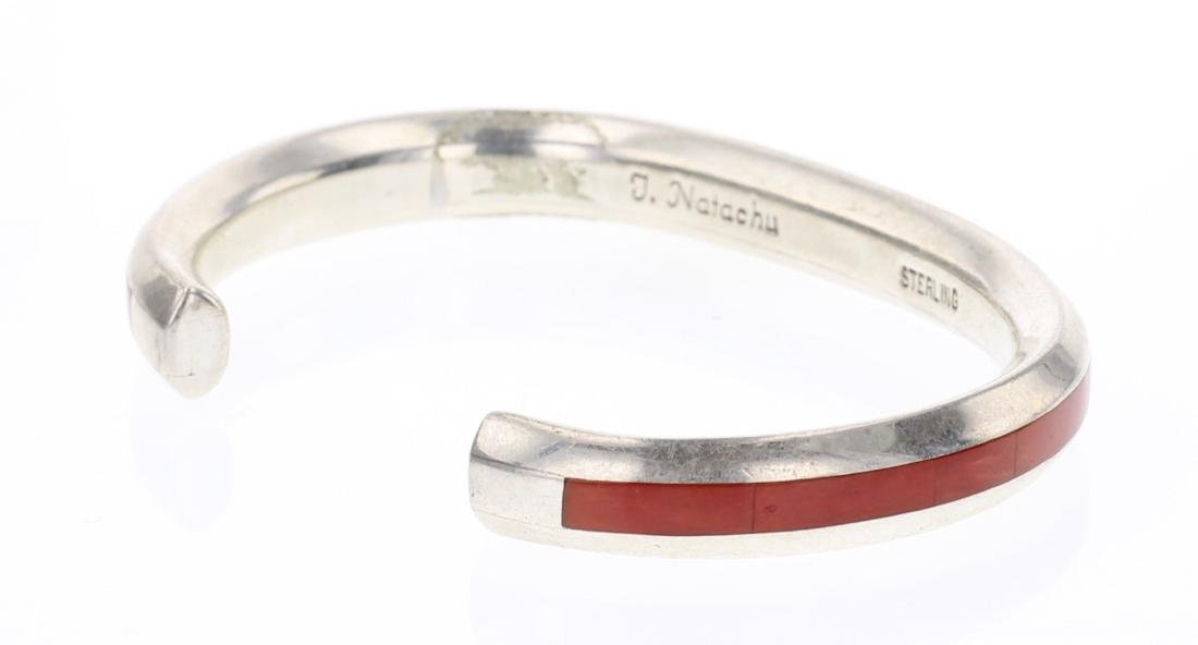 Natachu Zuni Coral Inlay Bracelet - 2