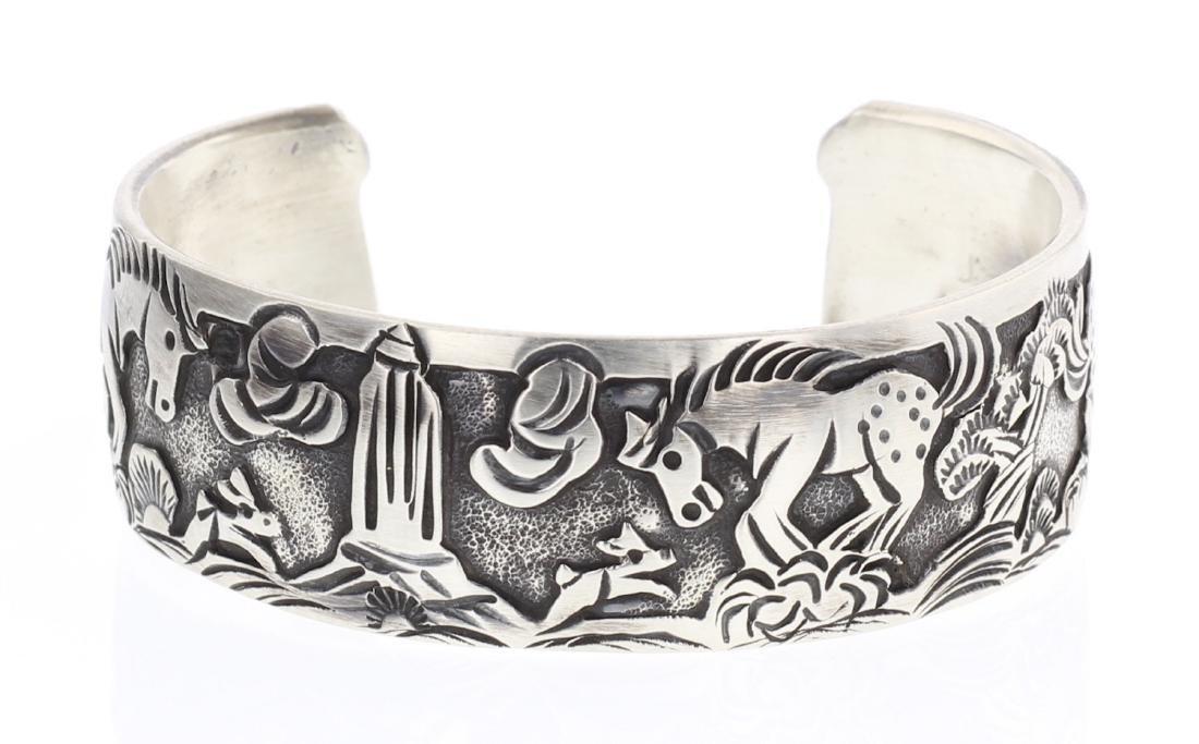 Overlay Horse Story Teller Design Bracelet In & Out