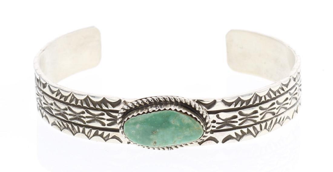 Rick Enriquez Turquoise Stamp Bracelet