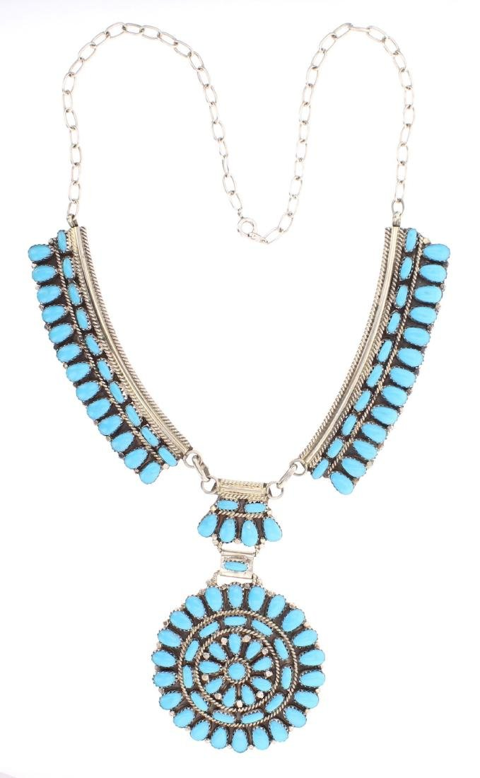 Juliana Williams Turquoise Cluster Necklace